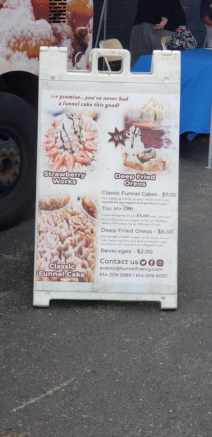 Funl frenzy food truck funnel cakes funnel cake