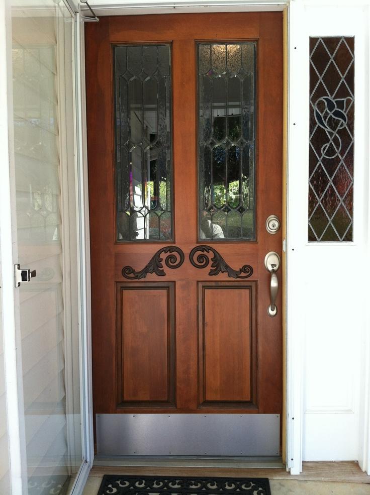 Antique Front Door Found At Habitat. Sanded Off 5 Coats Of Paint U0026  Refinished.
