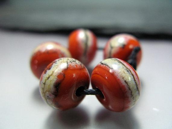 Handmade Lampwork Beads by GlassBeadArt   Silvered by GlassBeadArt, $7.50