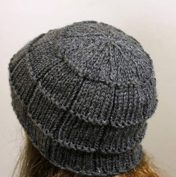 Hand knitted oversized unisex slouchy beanie. A lovely hat for