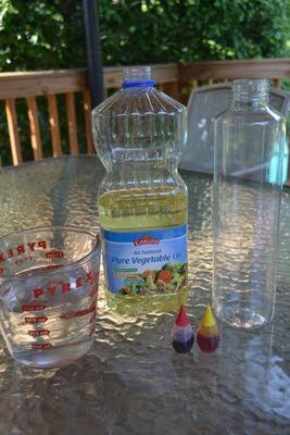 """Come Together Kids: Make-your-own """"Lava"""" Lamp. Oil, water, food colouring and alka-seltzer."""