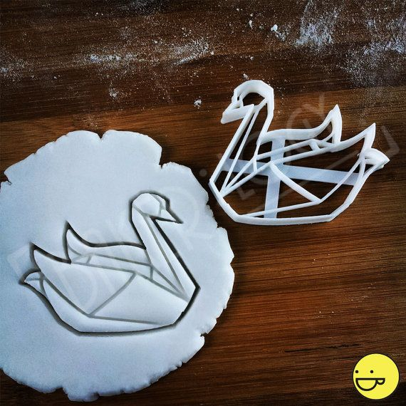Origami Swan cookie cutter | biscuit cutter | geese | goose | ugly ducklings | duckling | duck | ducks | swans one of a kind ooak