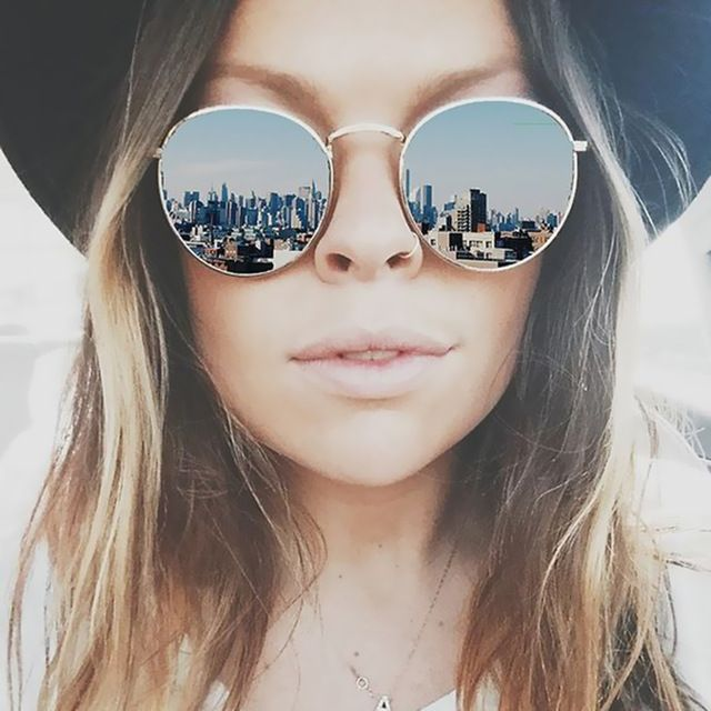 Clássico Espelho Redondo Do Vintage Designer de Marca Óculos De Sol Do Metal Lady Círculo Retro UV400 Mulheres Ou Homens Óculos de Sol Raios Vitória