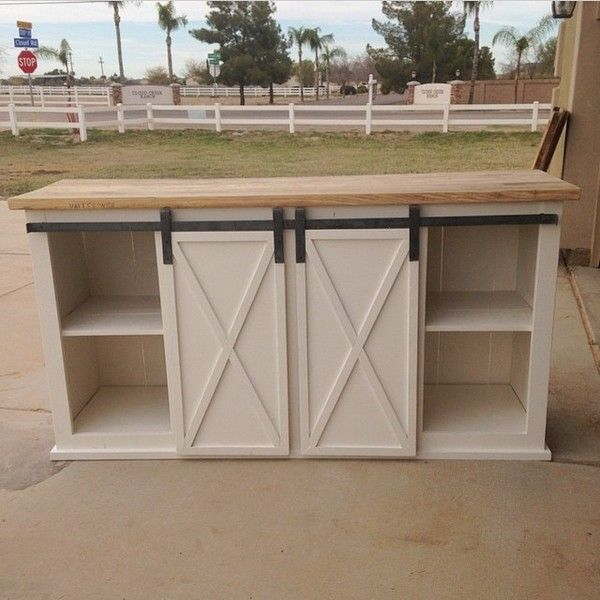 barn-door console building plans