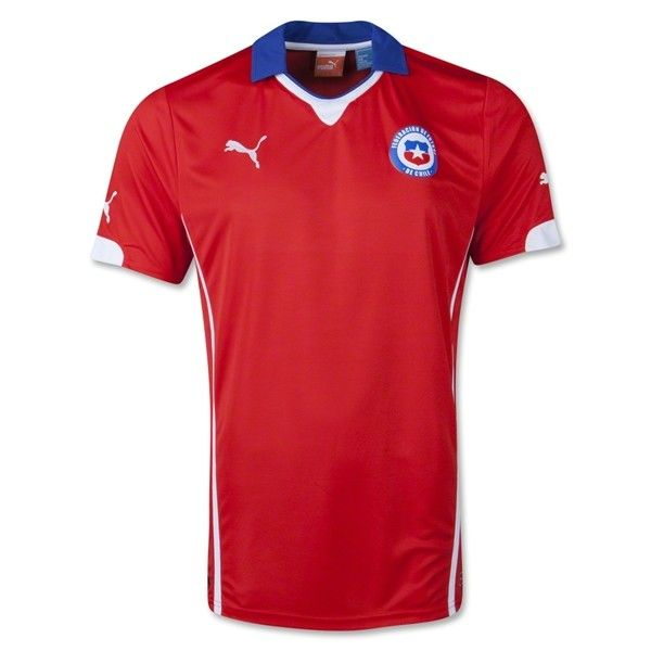 Chile Home Football Shirt 2014,This is the new Chile Home Football Shirt, made by Puma.  The new Puma Chile 2014 Home Shirt features a classical blue collar with some white collar details and a white line on the side of the shirt. The Puma 2014 Chile Home Shirt is a classical masterpiece. You can enjoy 15% off by shop over £200.Discount Code:cutoff15%. And Free shipping if you order more than $99.http://www.aleisrfid.com/chile-shirt/chile-home-football-shirt-2014.html