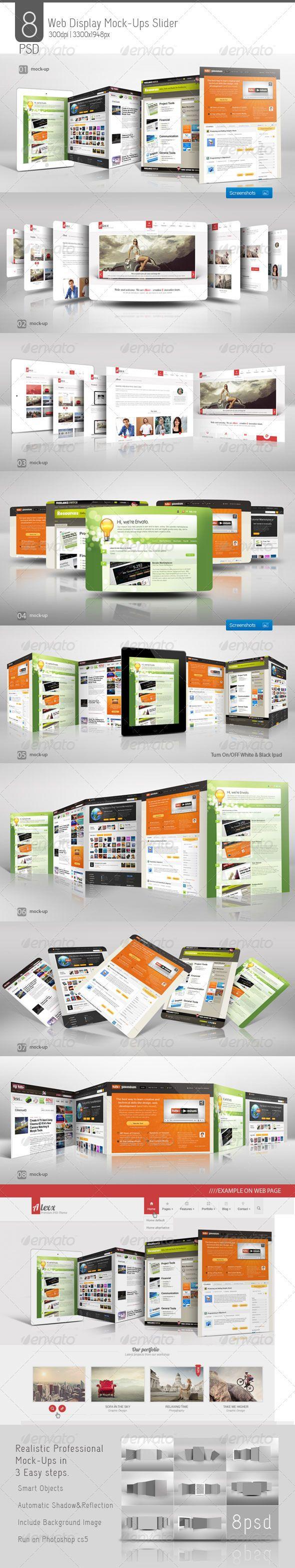 Web Display Mock-Ups Slider