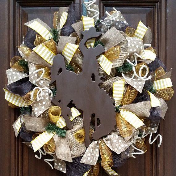 Wyoming Cowboys Wreath Wyoming Wreath University of by Jarabels