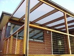 Outdoor Living  Alfresco  Pergola  Deck  Lexan Thermoclear  Balustrade  Stainless Steel Cable