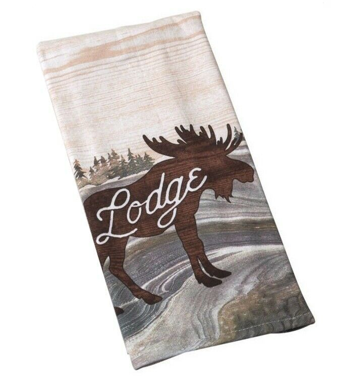 Moose Lodge Kitchen Dish Tea Towel 16x 26 Absorbent 100 Cotton Cabin Country Kaydeedesigns Country In 2020