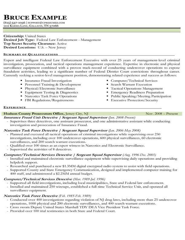 42 best Sample Resume Templates images on Pinterest Career, Gym - law enforcement resume templates