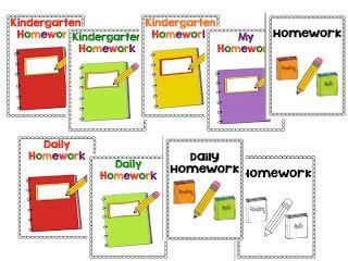Time 4 Kindergarten: Kindergarten Homework Folders and Binders