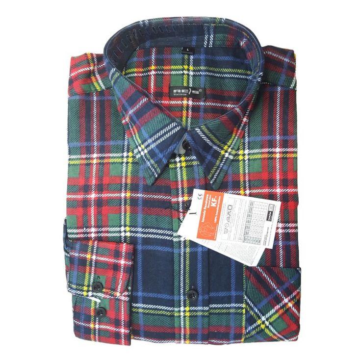 Arbeitshemd Flanellhemd mehrfarbig - 7,99