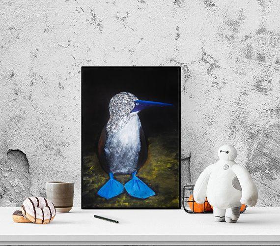 Bird N8 on a dark background. Oil Painting. by GausCraftStudio