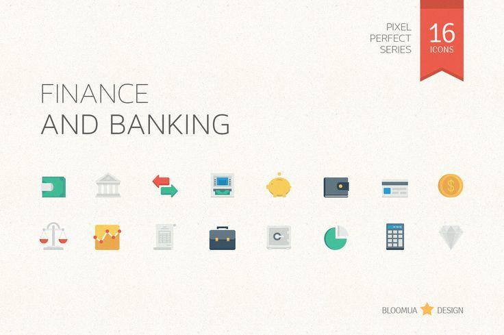 Finance & Banking Flat Icons - Icons