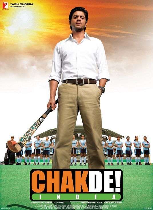 Chak De! India  Shah Rukh Khan and a spirited sports story in one.  :)