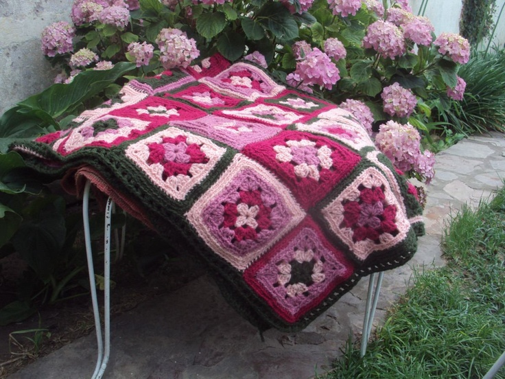 Hermosa Manta Pie De Cama Crochet /decoracion