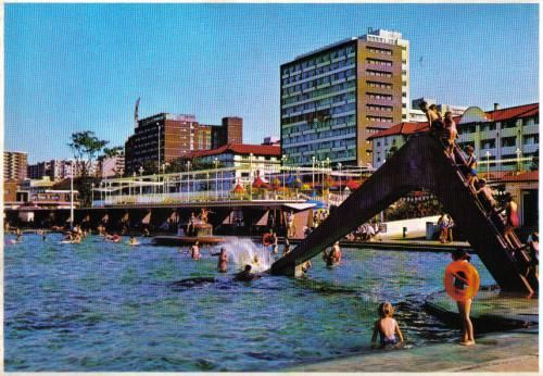 Fun under the South African sun. Postcard sent to the USA.
