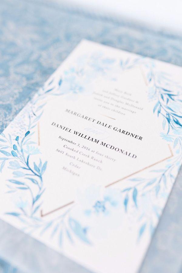 Poetic Blue Invitation Beth Joy Photography Minted Wedding Invitations Blue Wedding Invitations Blue Invitation