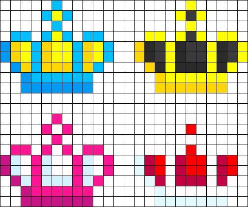Mini Crown Perlers Perler Bead Pattern / Bead Sprite