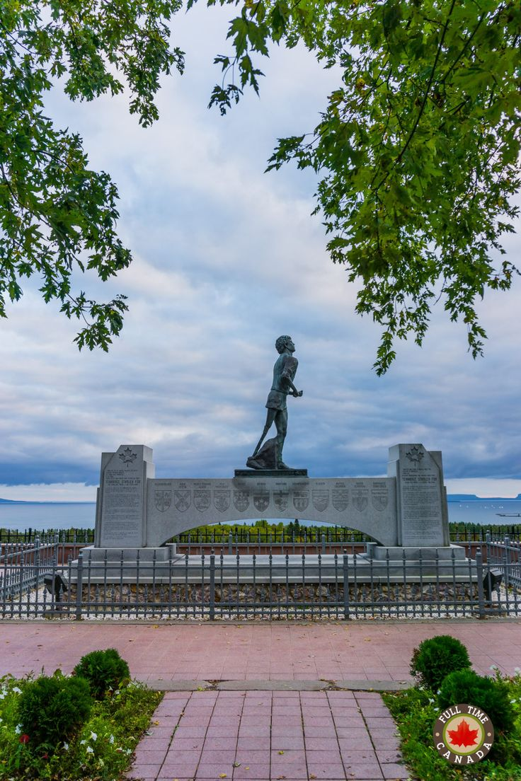 Terry Fox monument in Thunder Bay
