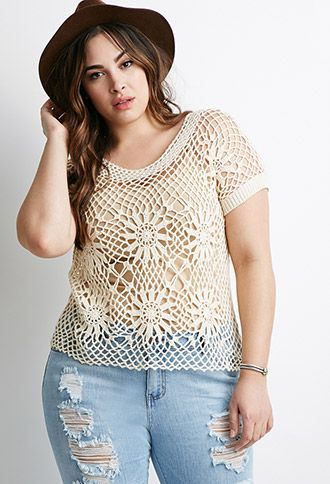 Sunburst Crochet Top keeps you cool and cute! Don't forget your sunscreen!