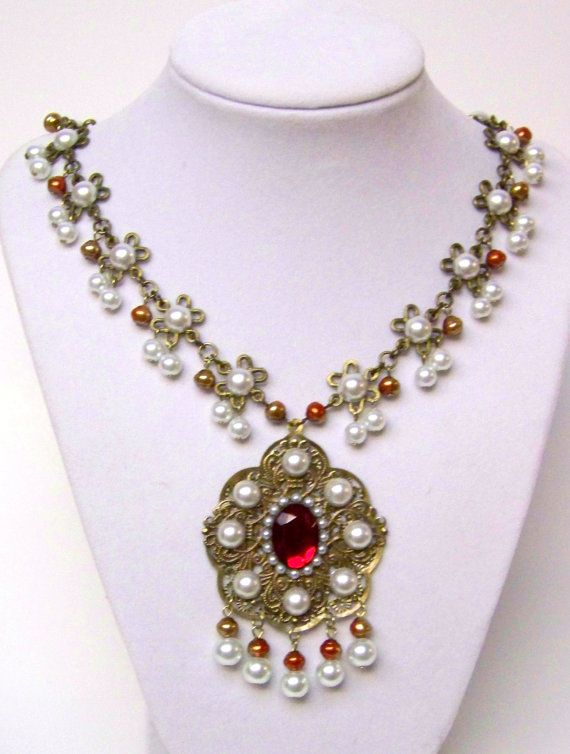 medieval jewelry | Medieval Necklace - Medieval Jewelry -- Renaissance Jewelry, SCA, Anne ...