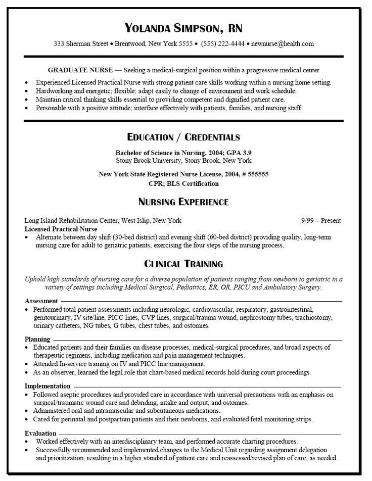 find this pin and more on lpn things graduate nurse resume example