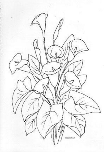 31 best flores images on Pinterest  Draw Embroidery patterns and