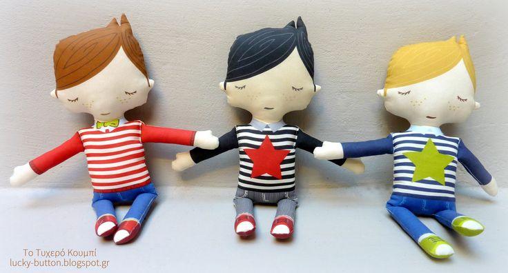 Hand made dolls, Cut and Sew doll, Πάνινες κούκλες χειροποίητες