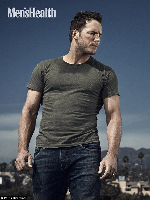 Hunk: Chris Pratt has opened up to Men's Health about his changing weight and his Hollywood journey