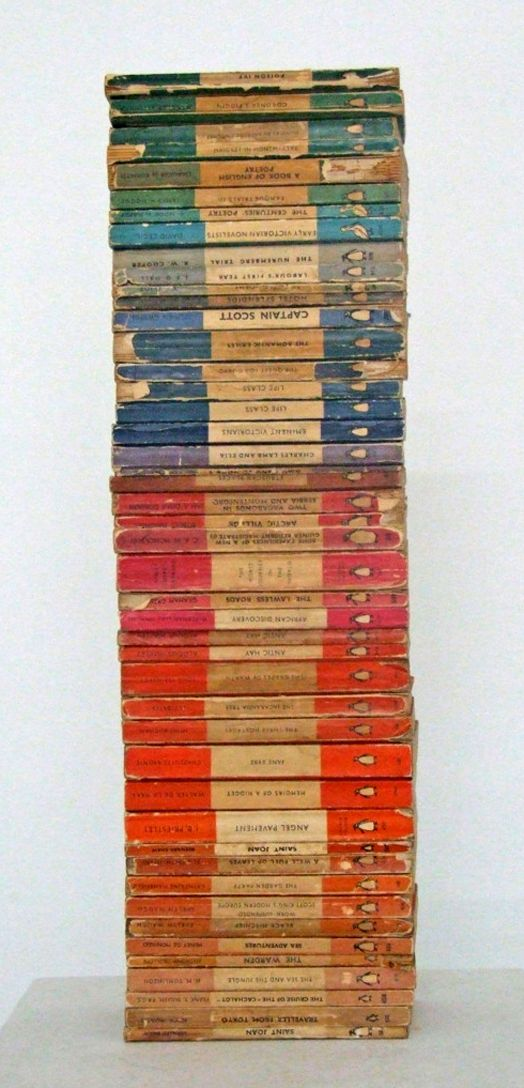 Vintage Penguin Paperbacks stylish patina, virginia, interior design, www.stylishpatina.com