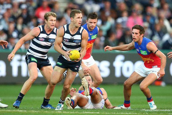 AFL Rd 3 - Geelong v Brisbane - Caddy + Selwood