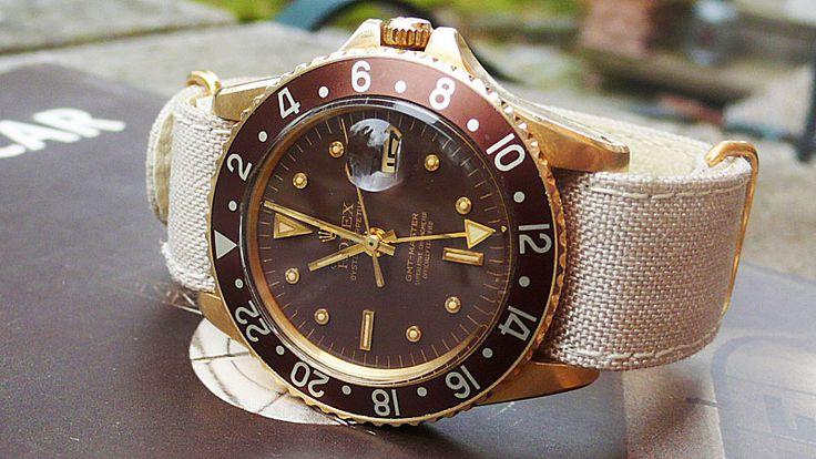 "Rolex GMT ""Mocha"" that is sharp!!!Gmt Mocha, Rolex Gmt, But, 1675 8, Nato Band, 16758, Rolex Luxe, Rolex Nato, Jewelry Handbags Accessories"