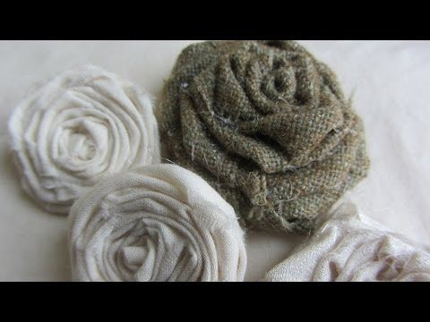 ▶ How to Make Adorable Vintage Shabby Chic Rolled Fabric Roses Tutorial - YouTube