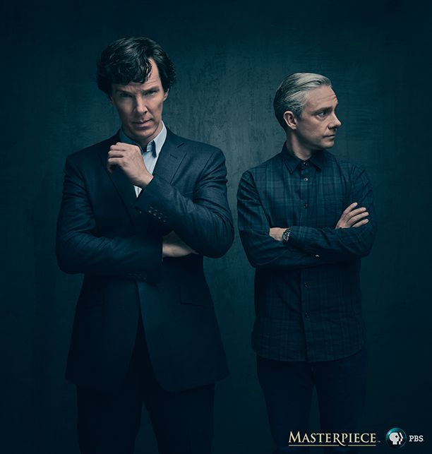 Benedict Cumberbatch and Martin Freeman are on FIRE in the new #Sherlock season 4 photo!!!