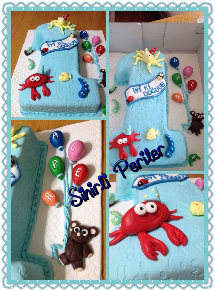 Bir YAŞ doğum günü pastası 1 numara doğum günü pastası 1st birthday cake