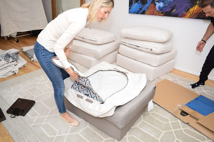 Lovesac review - click through to read why Lovesac is the best couch ever! (Hint: it's machine washable and super easy to put together!)