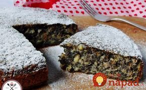 Stačí len zmiešať a naliať na plech: 2-minútový makový koláč s jablkami!