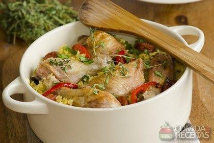Receita de Arroz com frango na panela de pressão - Comida e Receitas