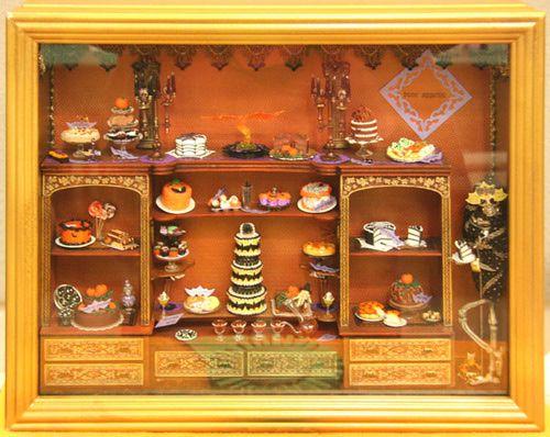 dolls house scale windowbox displays halloween shopshalloween miniaturesdollhouse - Miniature Halloween Decorations