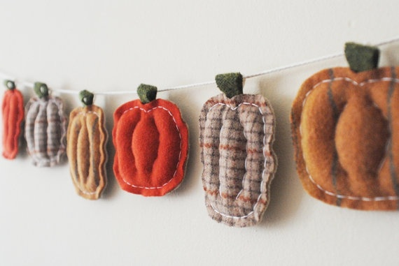 Primitive Halloween Banner  Pumpkin Spice Garland by whatnomints, $57.00