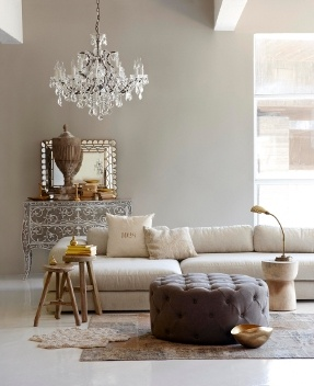 Γκρι & χρυσό σαλόνι- grey & gold living room