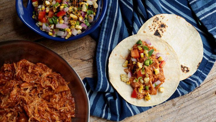 Jeanette's BBQ Chicken Tacos With Grilled Corn Salsa Recipe
