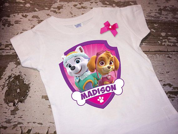 Personalized Paw Patrol Skye and Everest por littlemacboutique