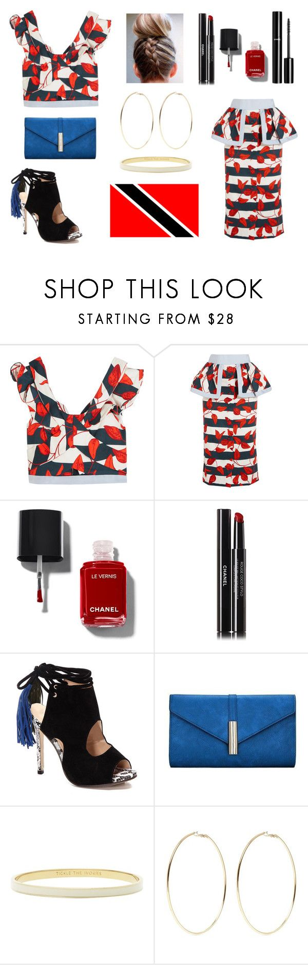 """""""Trinidad and Tobago Travel - Contest Entry 3"""" by lovelisa1997 ❤ liked on Polyvore featuring Johanna Ortiz, Chanel, Kate Spade and Kenneth Jay Lane"""