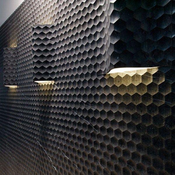 carrelage mural hexagonal en béton, 3D