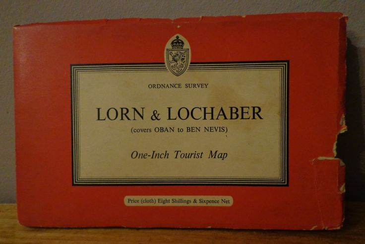 Vintage 1959 Ordnance Survey Map Lorn & Lochaber (Covers Oban to Ben Nevis) One Inch Tourist Map (Cloth). Vintage OS Map by OnyxCollectables on Etsy