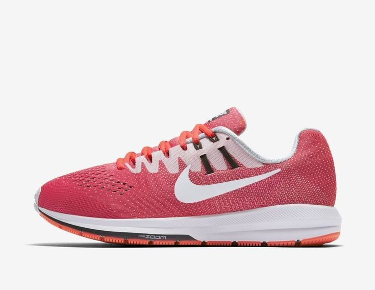Nike Air Zoom Structure 20 Pink White 849577-601 Women's Stability Running Shoes #Nike #Running