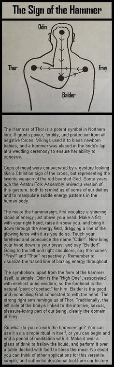 Hammer Sign, same as our catholic cross gesture, saying father son Holy Spirit.  Interesting. :)