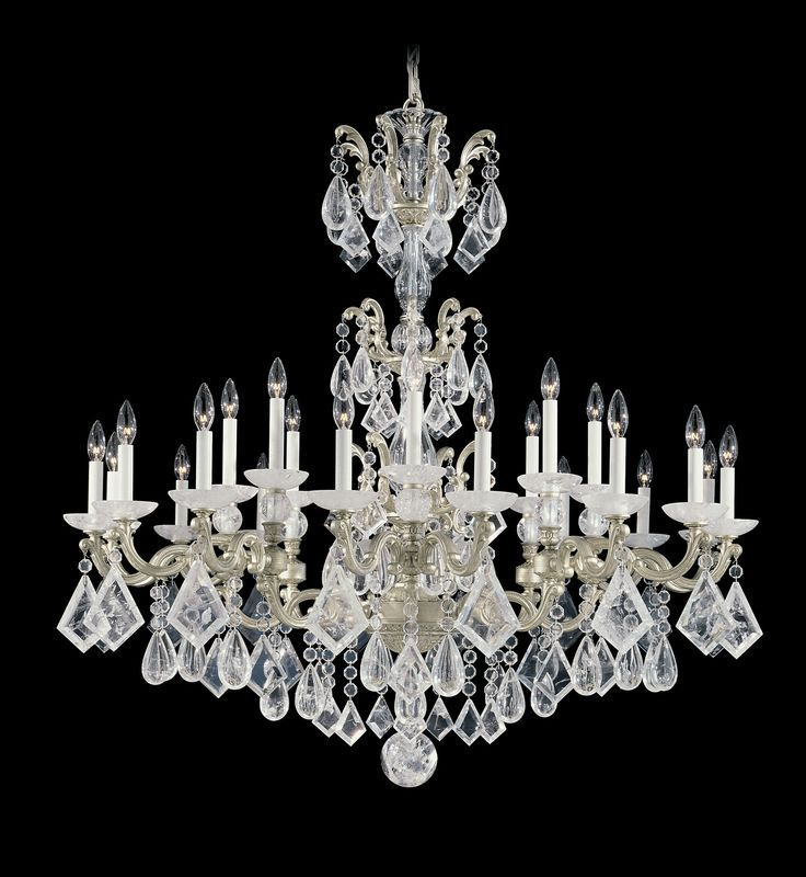 Schonbek 5413 La Scala Rock Crystal 46 Inch Chandelier